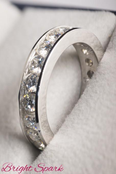 Кольцо вечности  с камнями по кругу