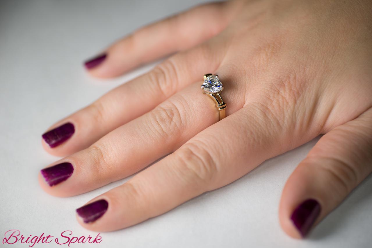 кольца в форме сердца