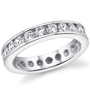 Золотое обручальное кольцо вечности