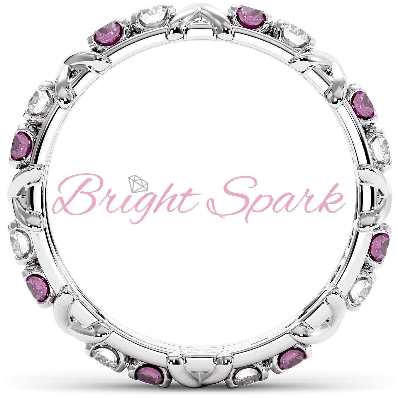 Кольцо с иксами  и розовыми сапфирами Tiffany Sixteen Stones by Schlumberger