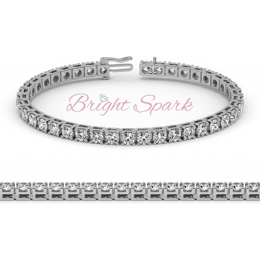 Теннисный браслет с крупными бриллиантами