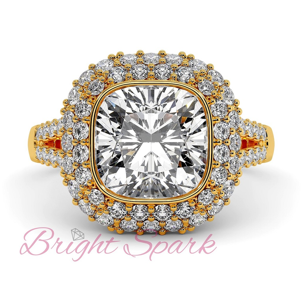 Кольцо Sharon с бриллиантами 2,8 карат в желтом золоте