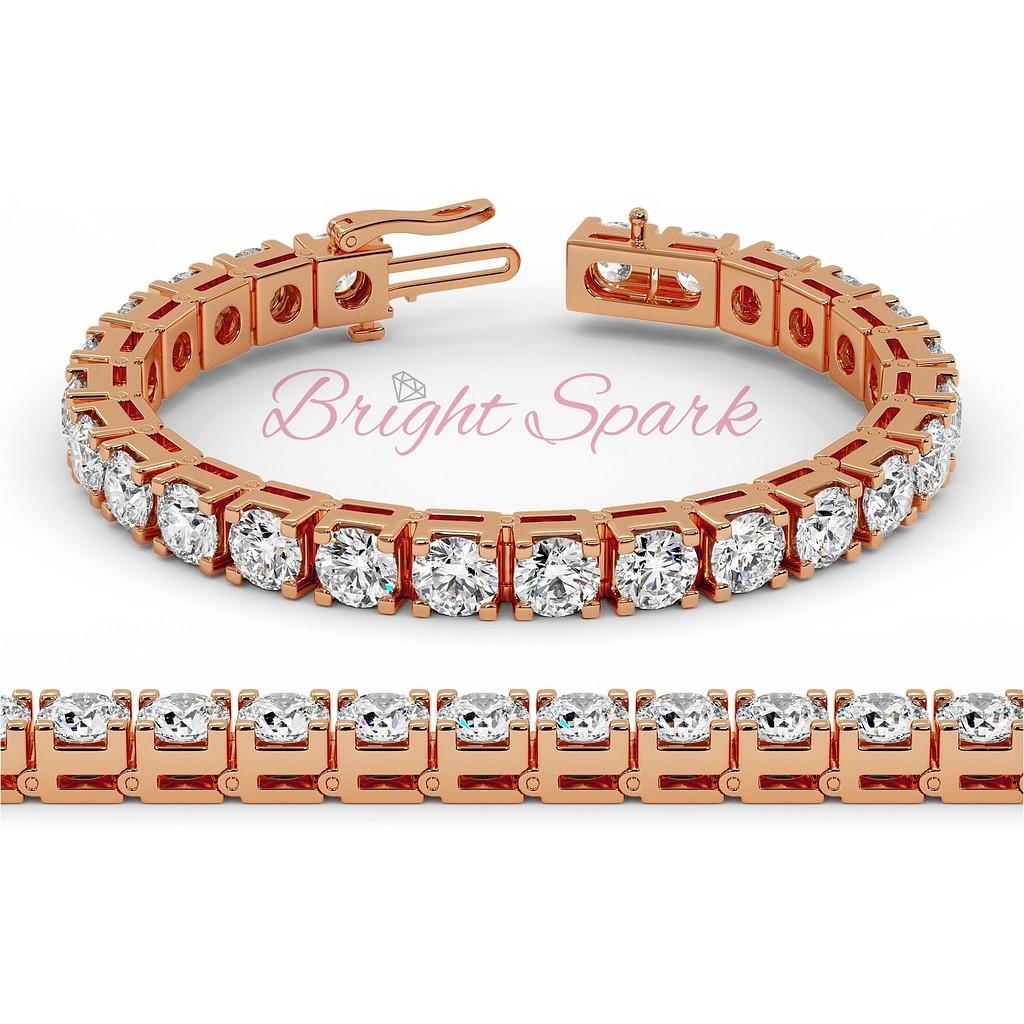 Браслет с бриллиантами по пол карата розового золота
