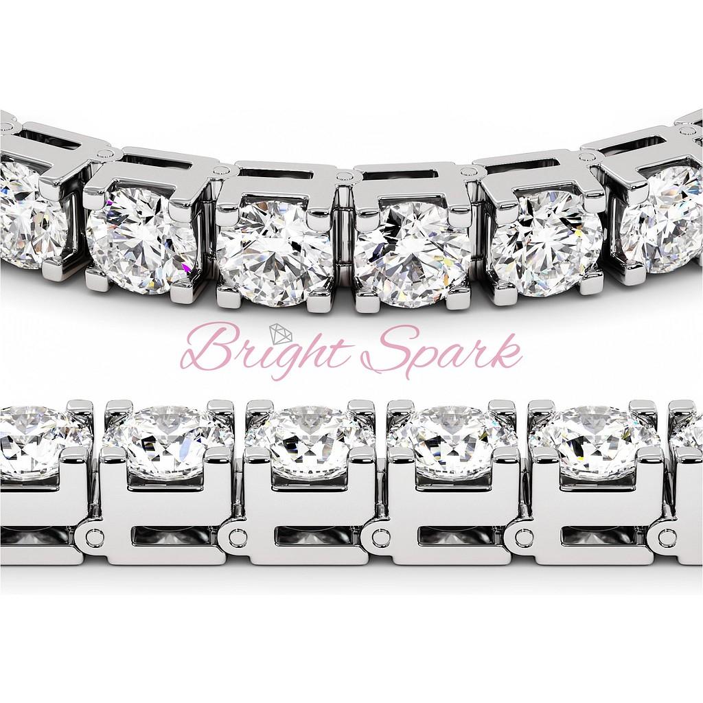 Браслет с крупными бриллиантами из белого золота