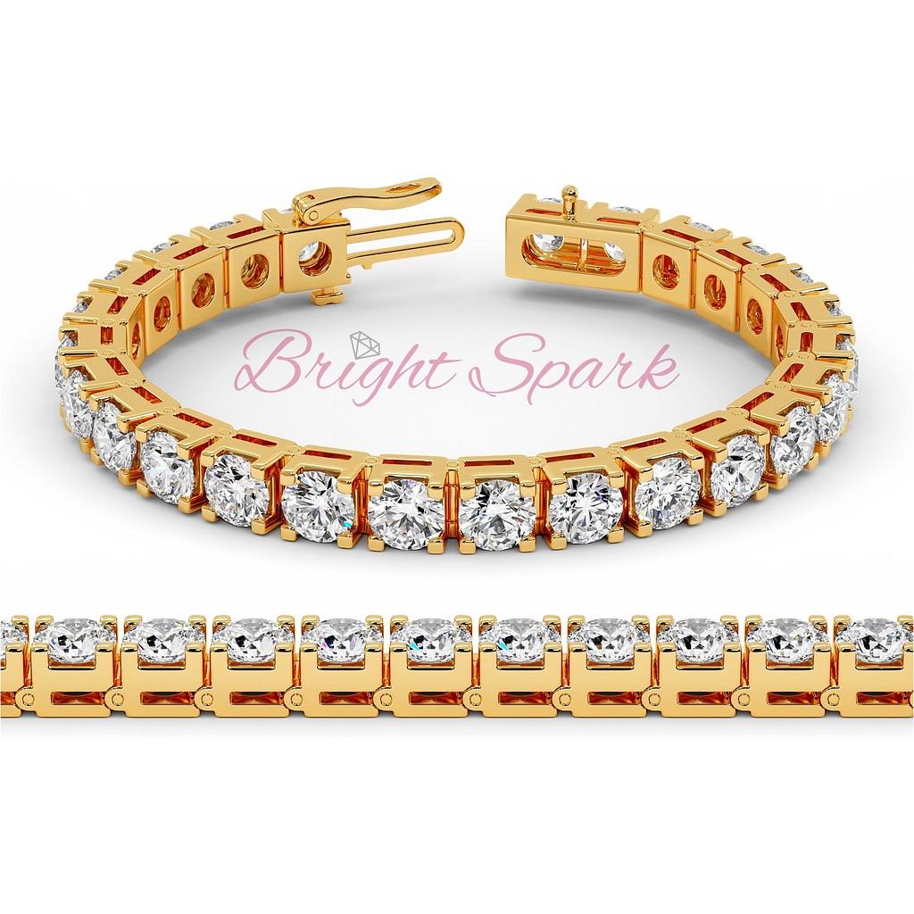 Браслет с бриллиантами по пол карата желтого золота