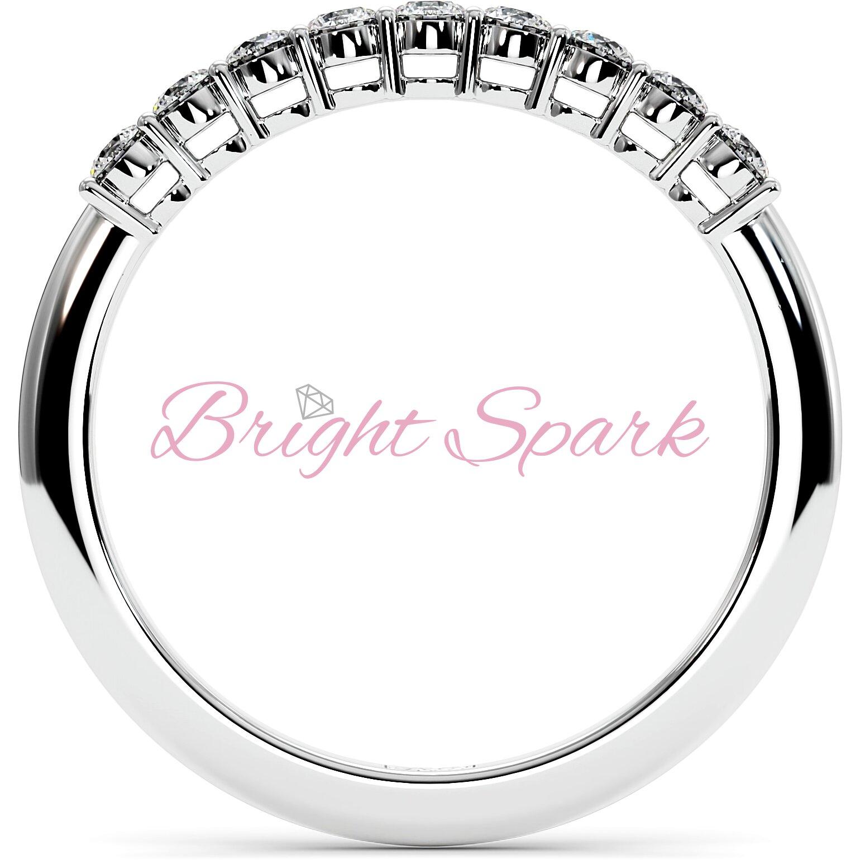 Обручальное кольцо белого золота с дорожкой из камней Embrace 0,3 карат