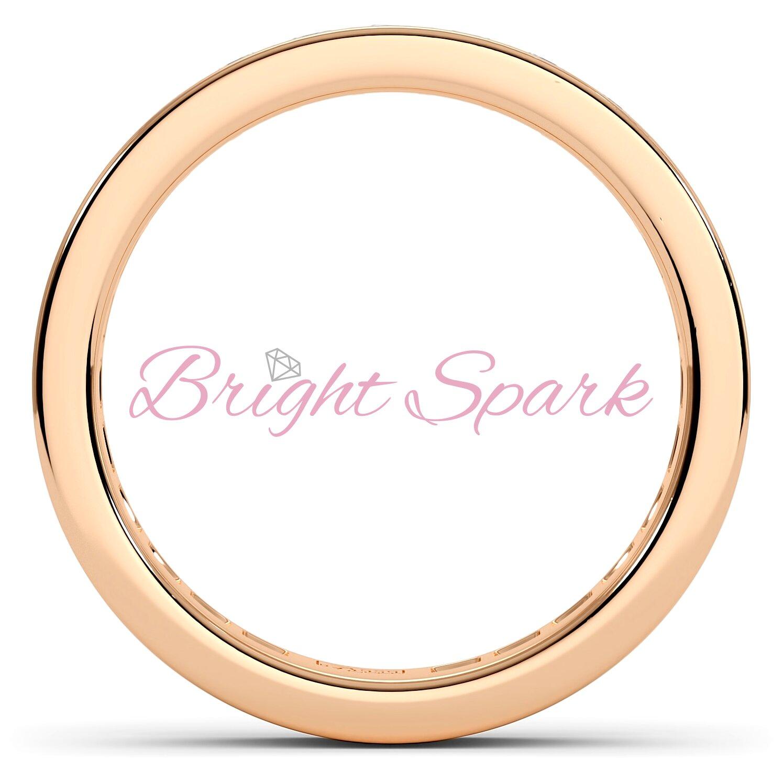 Обручальное кольцо розового золота с дорожкой Helen на 0,8 карата