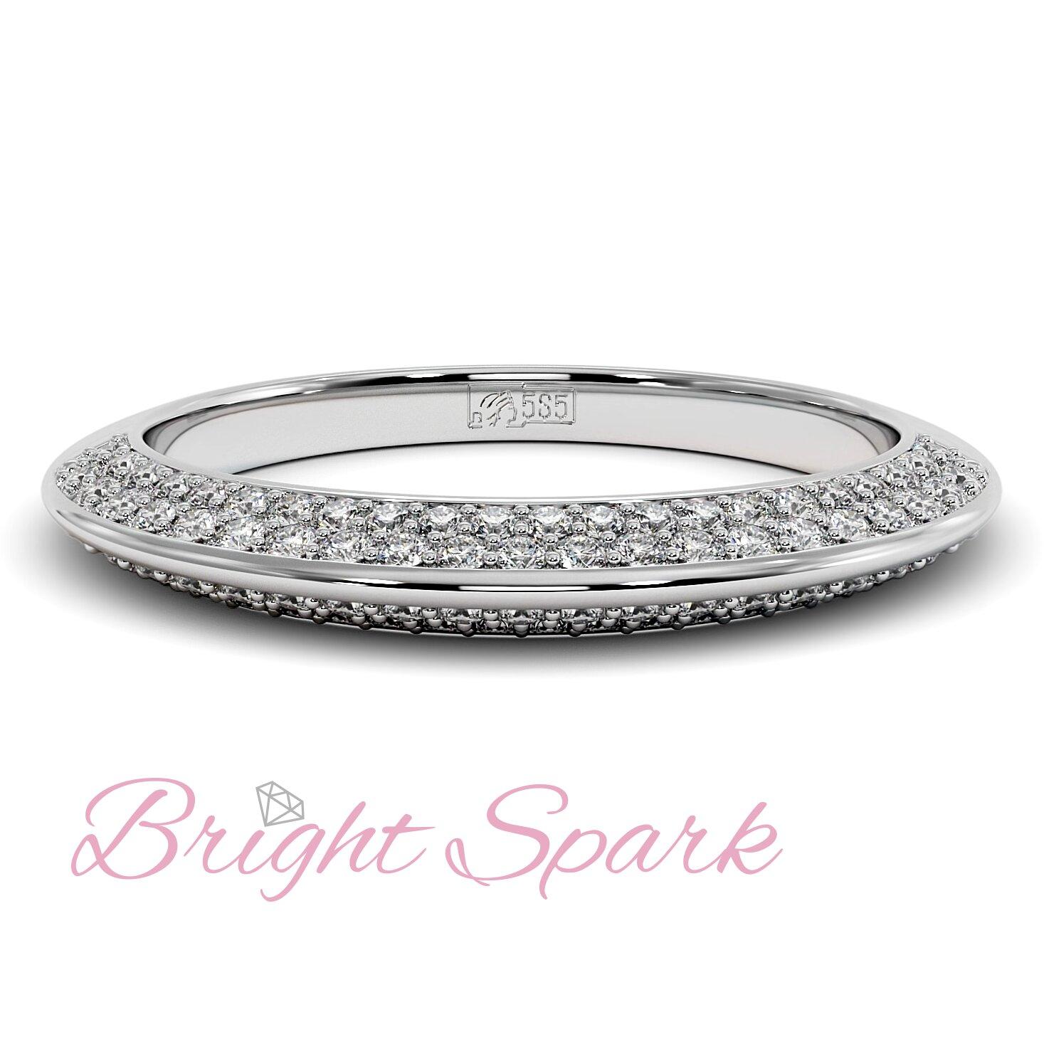Кольцо  белого золота усыпанное бриллиантами Melanie 0,5 карата