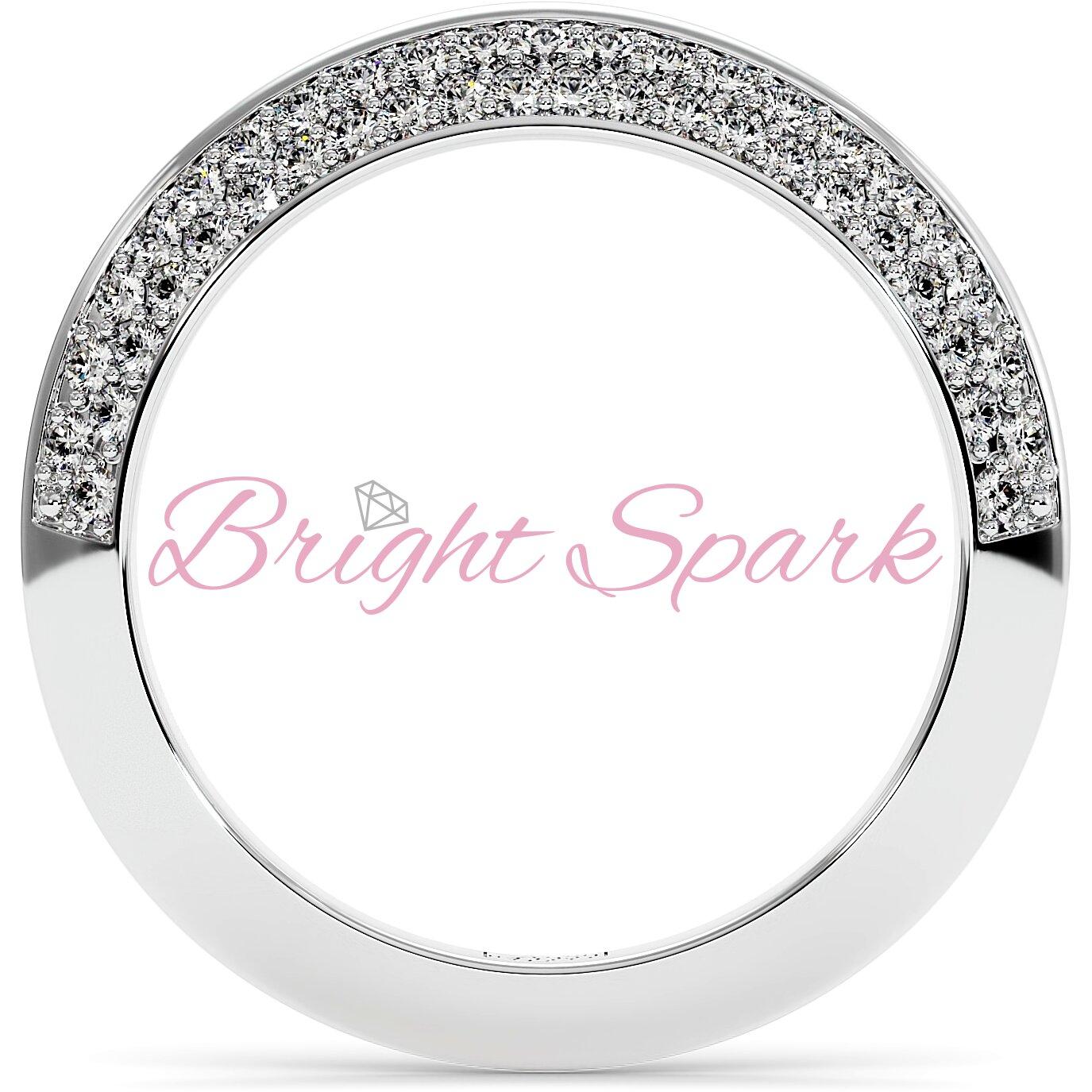 Обручальное кольцо  белого золота усыпанное камнями Melanie на 0,5 карата