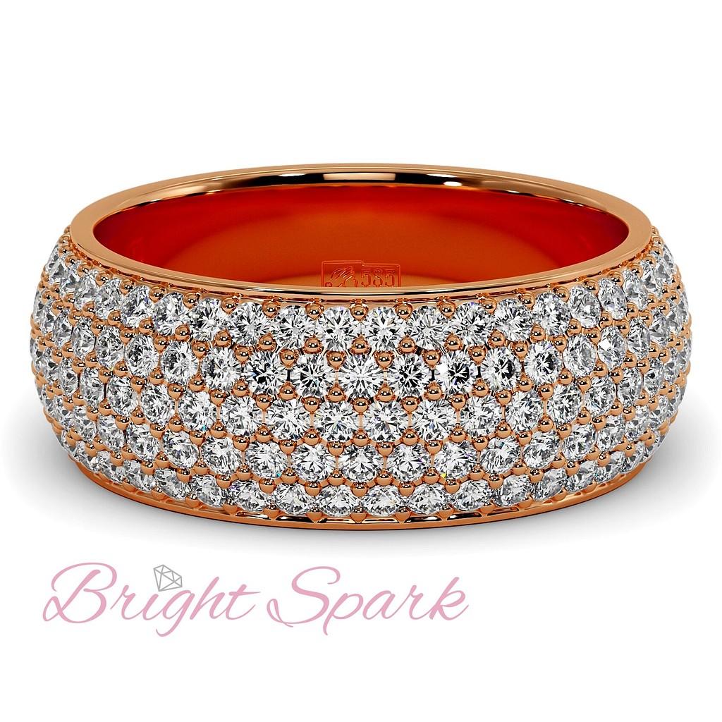 Кольцо розового золота с россыпью камней Paolina 2,6 карата