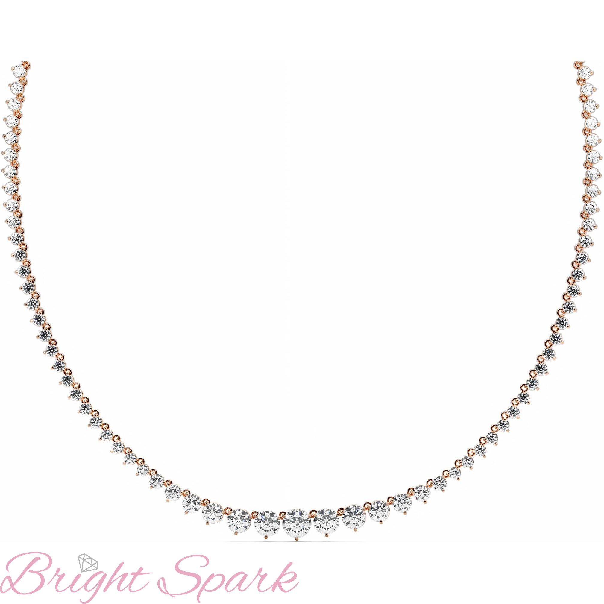 Ожерелье  розового золота с муассанитами Lace 18,8 карата
