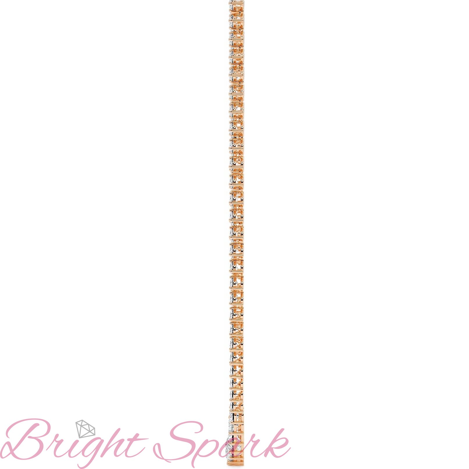 Ожерелье  розового золота с муассанитами Lace на 18,8 карата