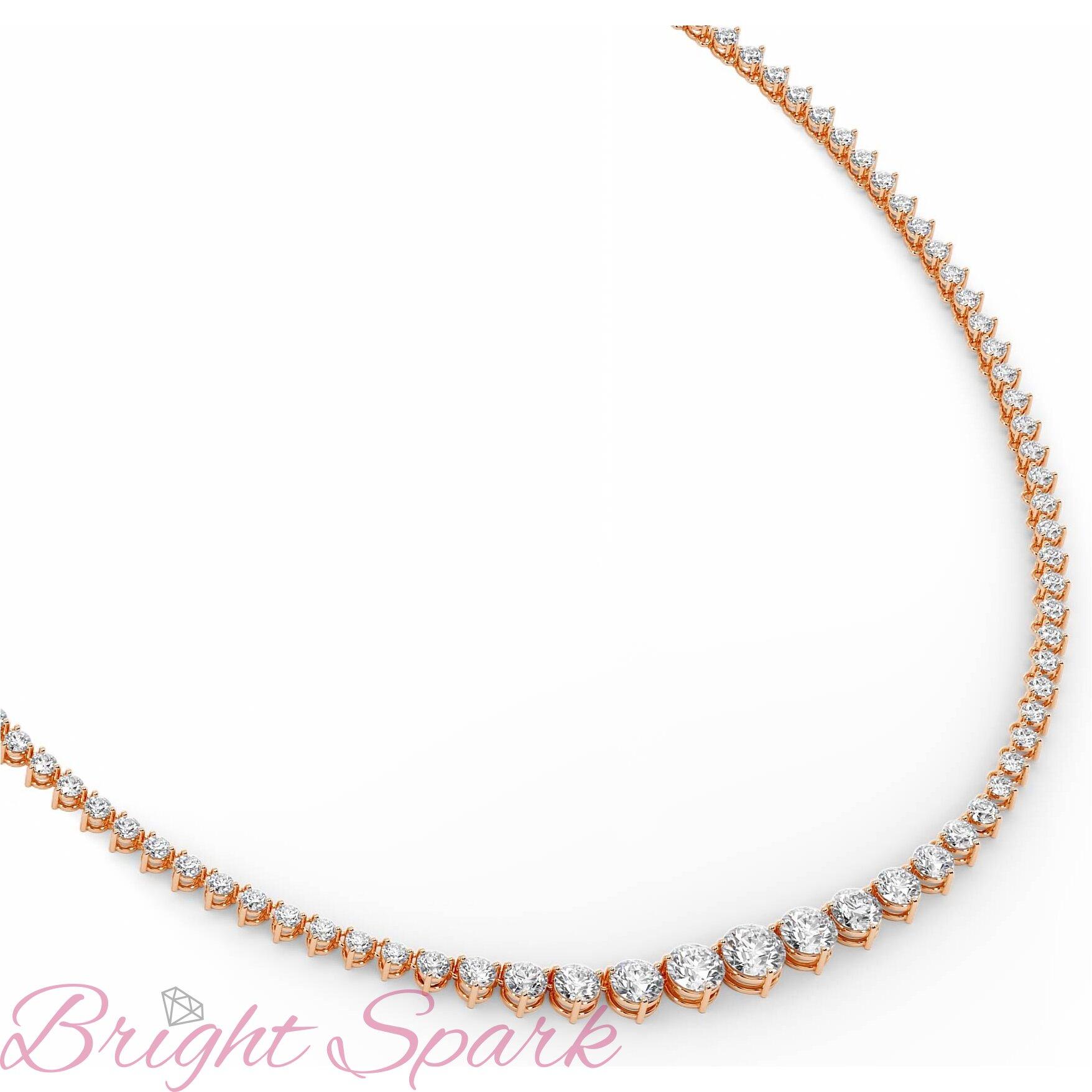 Ожерелье  розового золота с бриллиантами Lace 18,8 карата