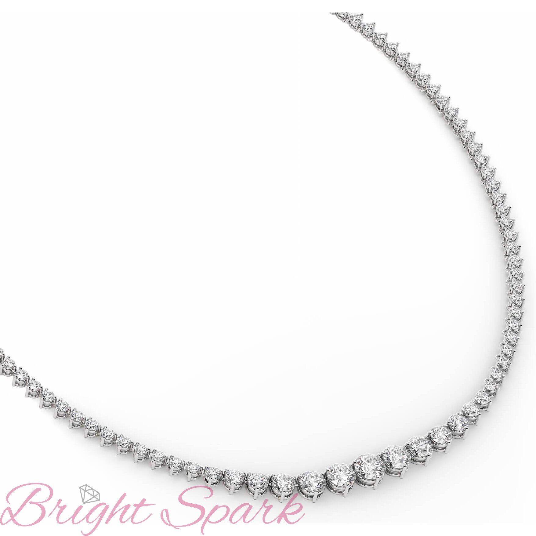 Ожерелье  белого золота с бриллиантами Lace 18,8 карата