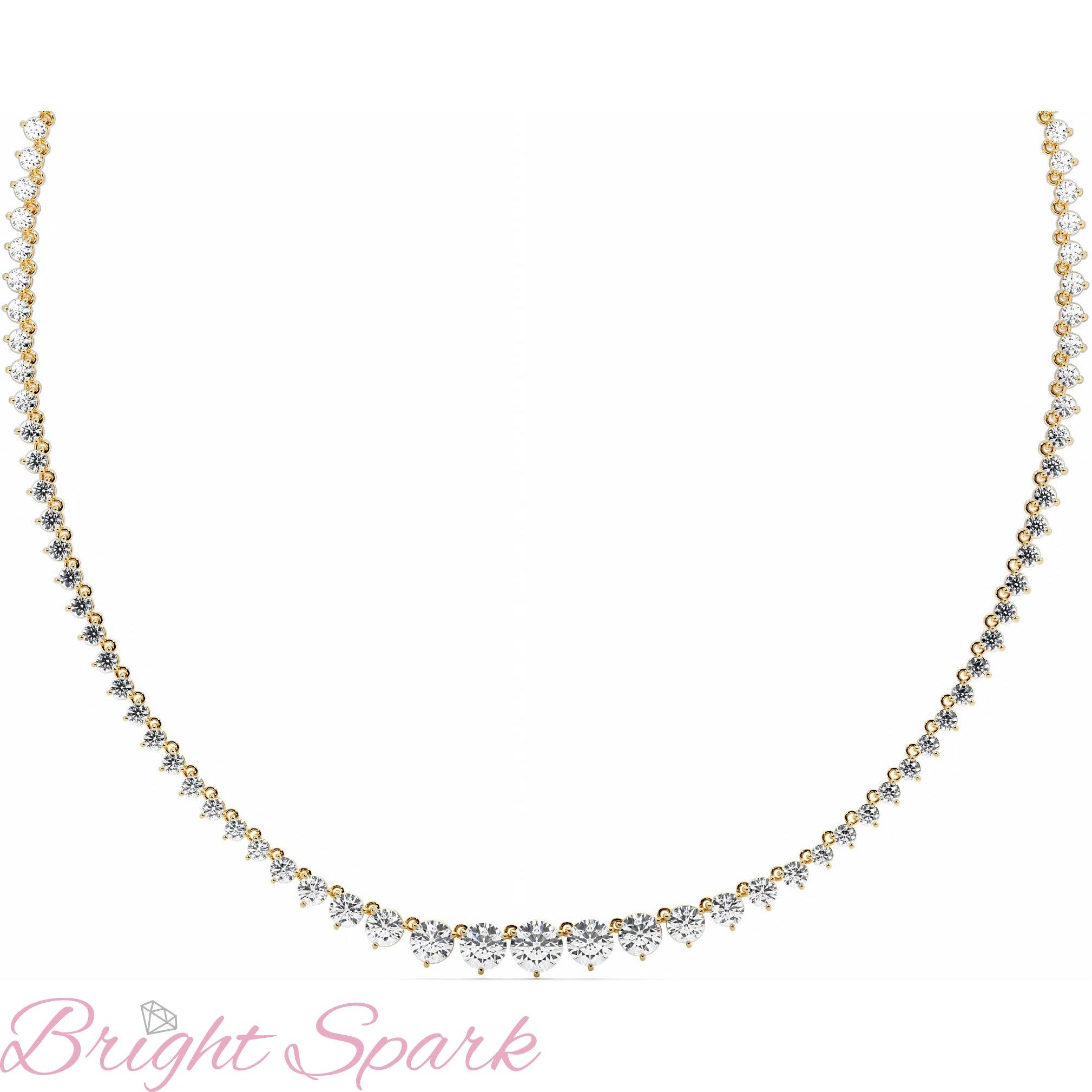 Ожерелье  желтого золота с муассанитами Lace 18,8 карата