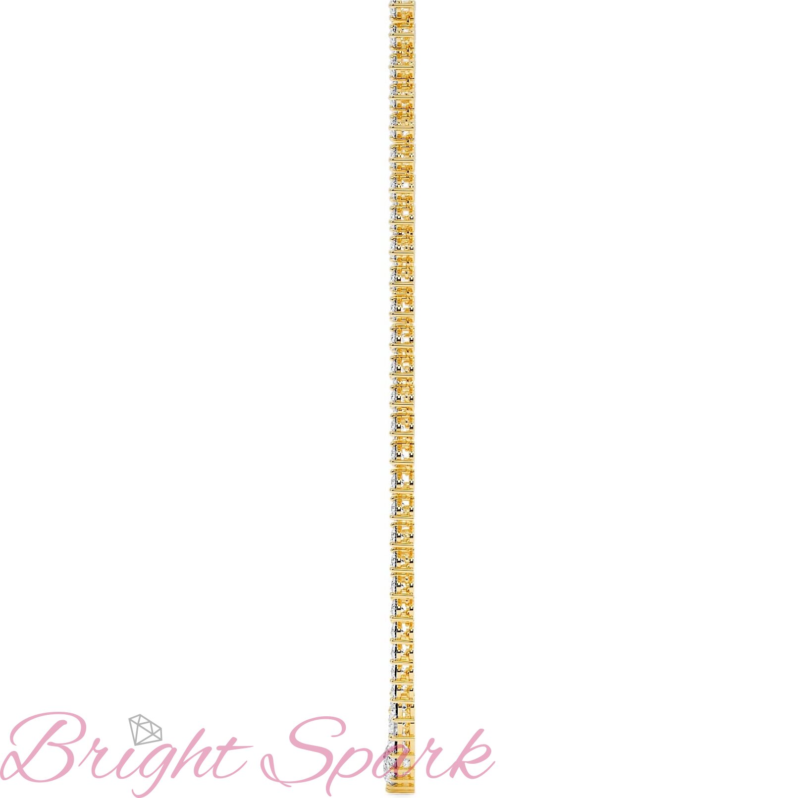Ожерелье  желтого золота с муассанитами Lace на 18,8 карата