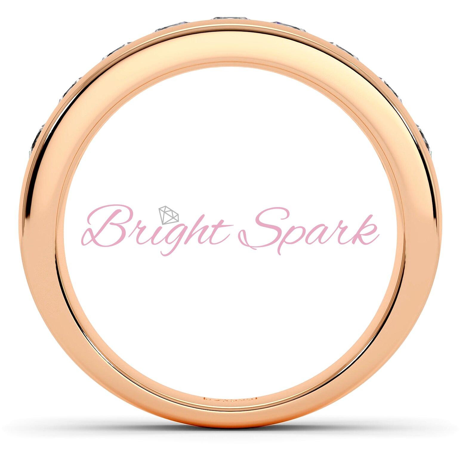 Обручальное кольцо красного золота с 9 бриллиантами Robert 0,9 карата