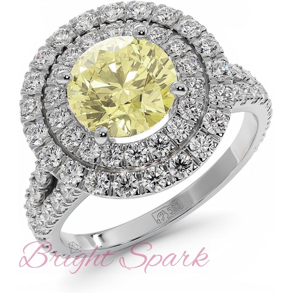 Кольцо с желтым бриллиантом Tiffany Soleste