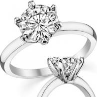 Кольцо с бриллиантом 3 карата   Помолвочные и обручальные кольца от ... 2df85dc0584